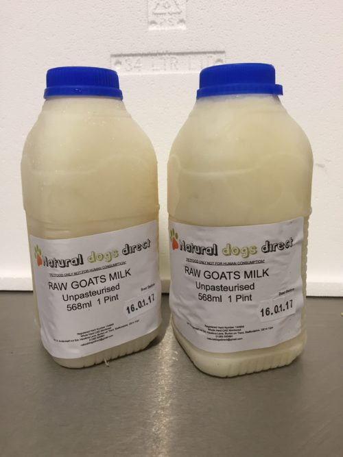 Raw Goats Milk for puppies