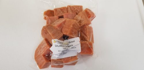 Raw Dog Food Salmon Chunks