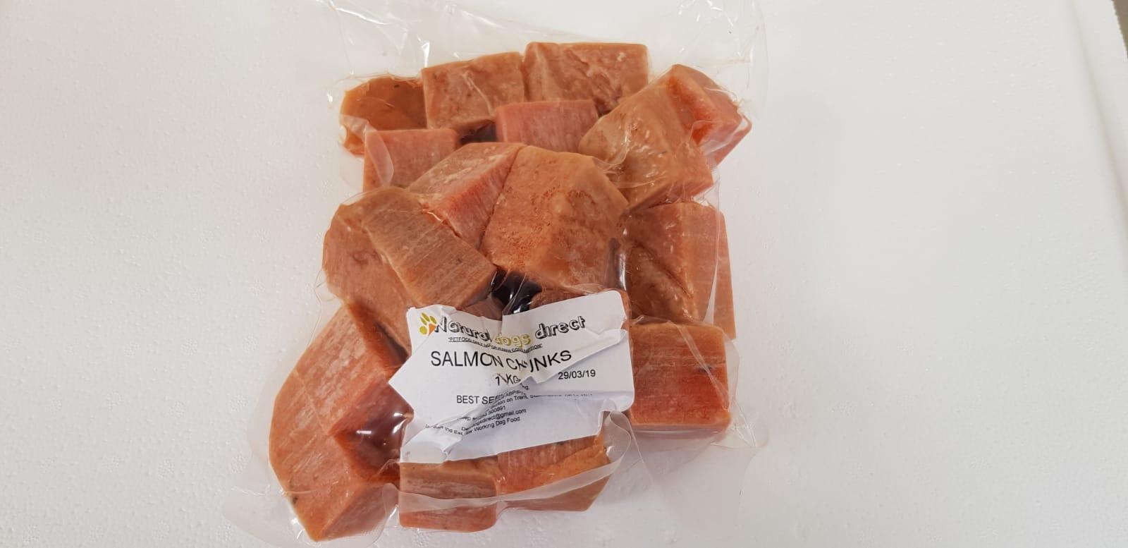 Raw Dog Food Salmon Chunks