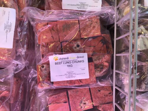 Natural Dogs Direct Raw Dog Food Beef Lung Chunks