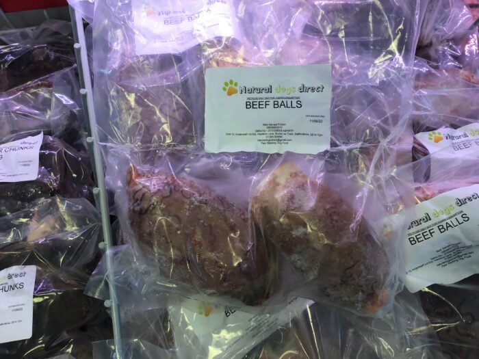 Natural Dogs Direct Raw Dog Food Beef Balls